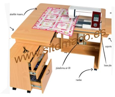 Mueble quilt vision elegir color sitomaco for Mueble organizador de costura